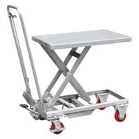 Aluminium Hydraulic Lift Table, 100kg 450 x 700mm