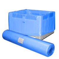 Bin Liner,1220 + 1220 x 2400mm x 100um - Blue (25/Roll)