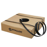 STALLION H/D Poly Strapping, 15mm x 1000m - Black (250kg breakload)