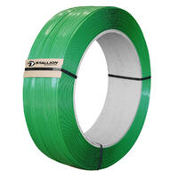 STALLION PET Strapping, 16mm x 0.90mm x 1200m - Smooth (620kg breakload)