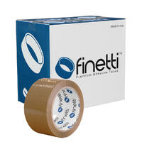 Finetti Premium Packaging Tape, 48mm x 75m, Brown