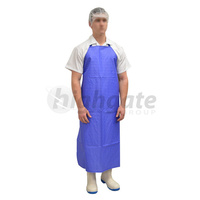 Full Butchers Apron, Nylon Coated - Blue/White Stripe