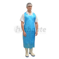 Disposable Apron, 860 x 1500mm x 40um + 40mm header -Blue 500/ctn (Price/1000)