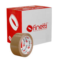 Finetti Acrylic Packaging Tape, 48mm x 75m, Brown