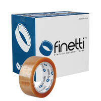 Finetti Premium Packaging Tape, 38mm x 75m, Clear