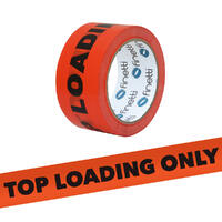 Top Load Only Tape, 48mm x 66m, Fluro Orange