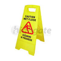 A-Frame Cleaning Sign, Caution Wet Floor