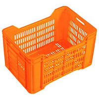 Nally Vented Produce Crate, 44L Orange