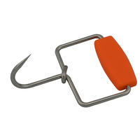 Boning Hook, Open Grip Flat Handle, Orange